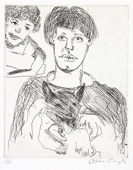 An image of Poet and muse by Arthur Boyd
