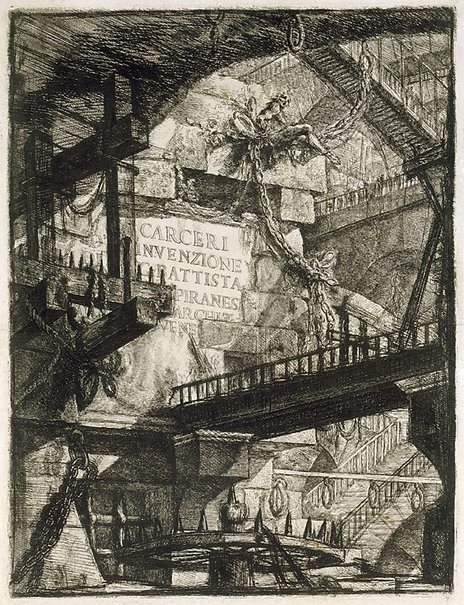 An image of Prisons by Giovanni Battista Piranesi