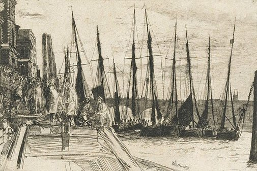 An image of Billingsgate by James Abbott McNeill Whistler