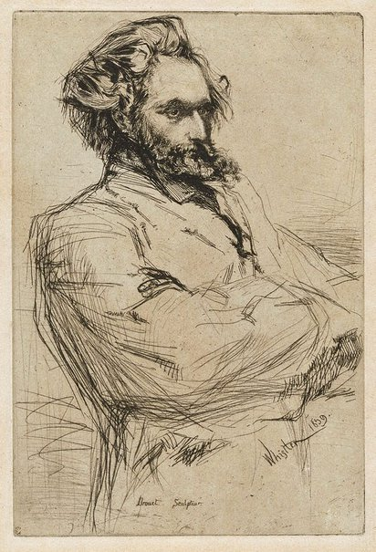 An image of Drouet by James Abbott McNeill Whistler