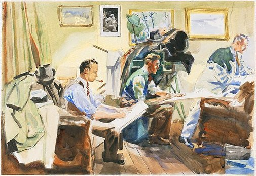 An image of The sketch club by John Baird