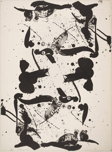 An image of Up and down by Sam Francis