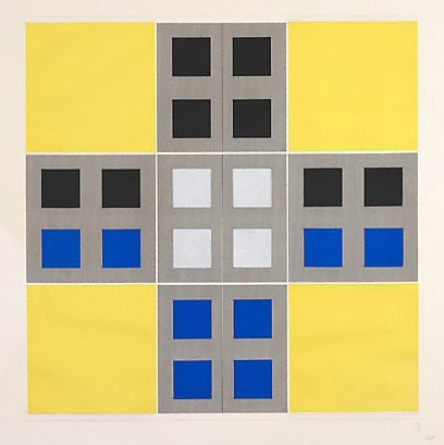 An image of Yellow, black, blue by Jesus-Rafael Soto