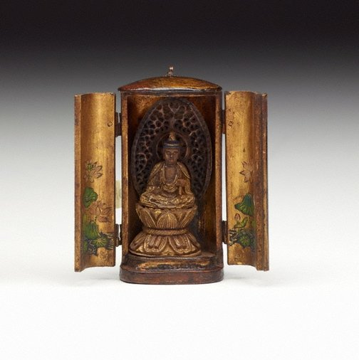 An image of Small Buddhist travelling shrine by