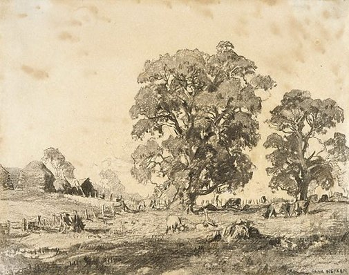 An image of Woodside pastures by Hans Heysen