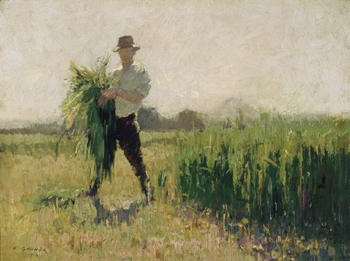 An image of Summer morning by Elioth Gruner