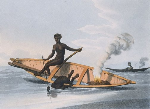 An image of Fishing no. 1 by M Dubourg, after John Heaviside Clark