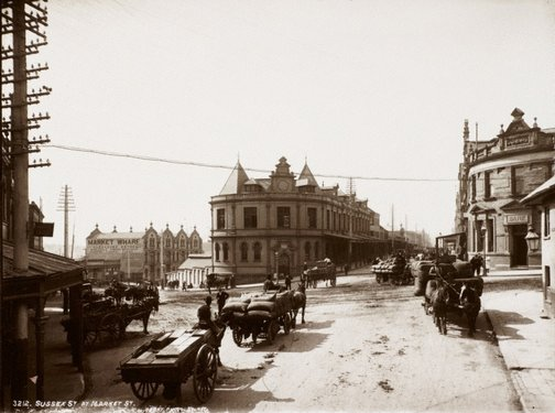 An image of Sussex Street at Market Street by Unknown, Kerry & Co