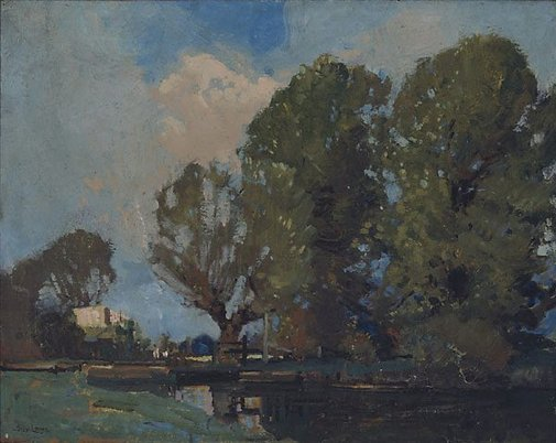 An image of In the Constable country by Sydney Long