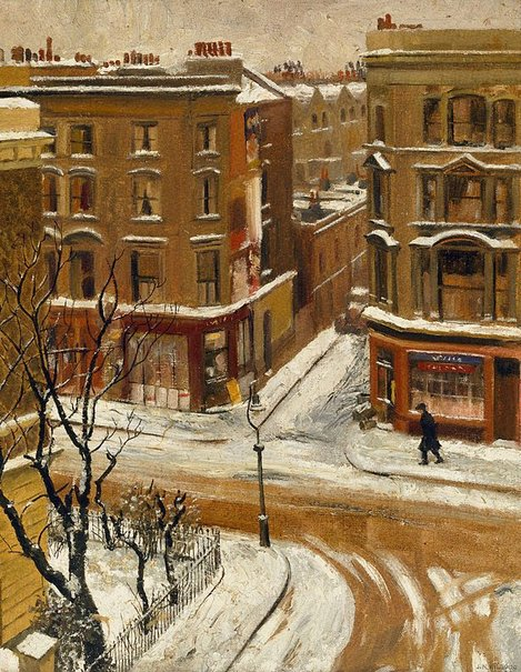 An image of Snow in London by J. Noel Kilgour