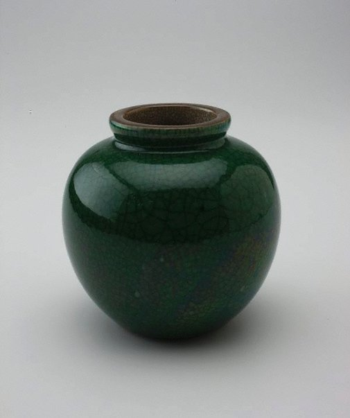 An image of Apple green crackle bowl by
