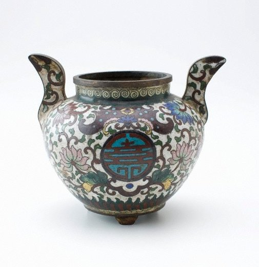 An image of Censer decorated with lotus scroll by
