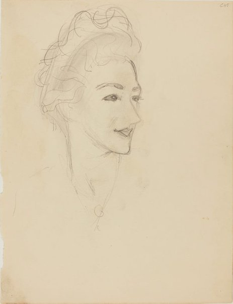 An image of (Portrait study of a woman) (Early Sydney period) by William Dobell