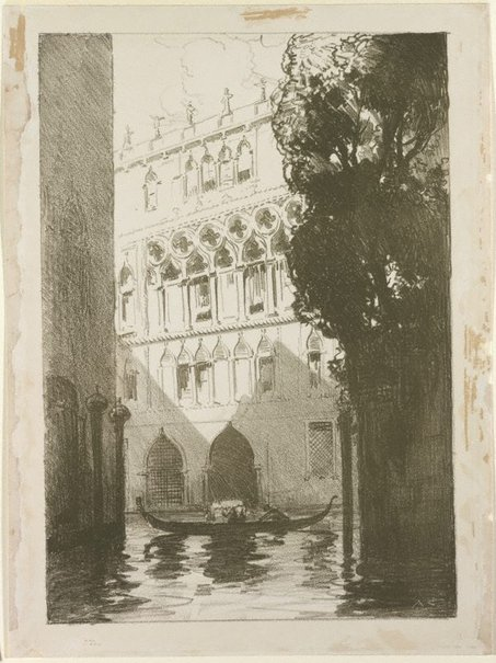 An image of Canal scene, Venice by Arthur Streeton