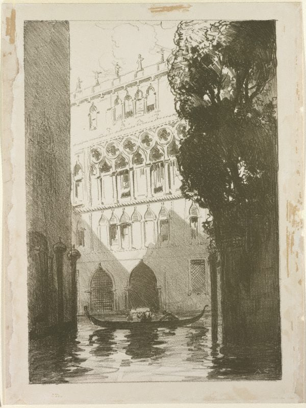 An image of Canal scene, Venice
