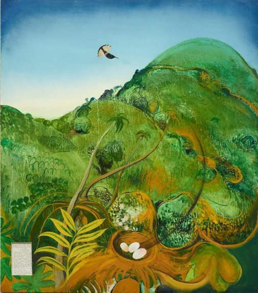 An image of The green mountain (Fiji) by Brett Whiteley