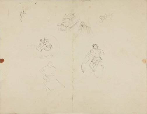 An image of (Figure studies, soldiers talking) (Early Sydney period) by William Dobell