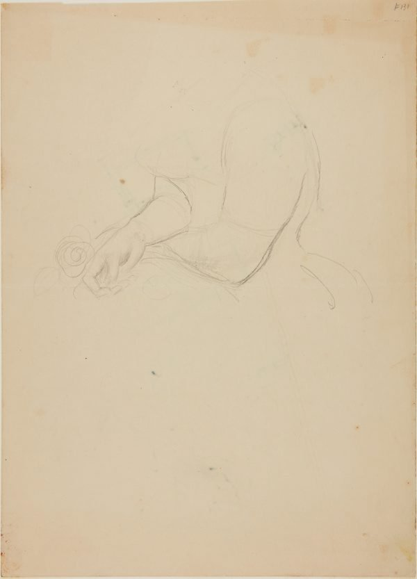 An image of recto: Arms and hands, for portrait of Margaret Olley verso: (sketch)