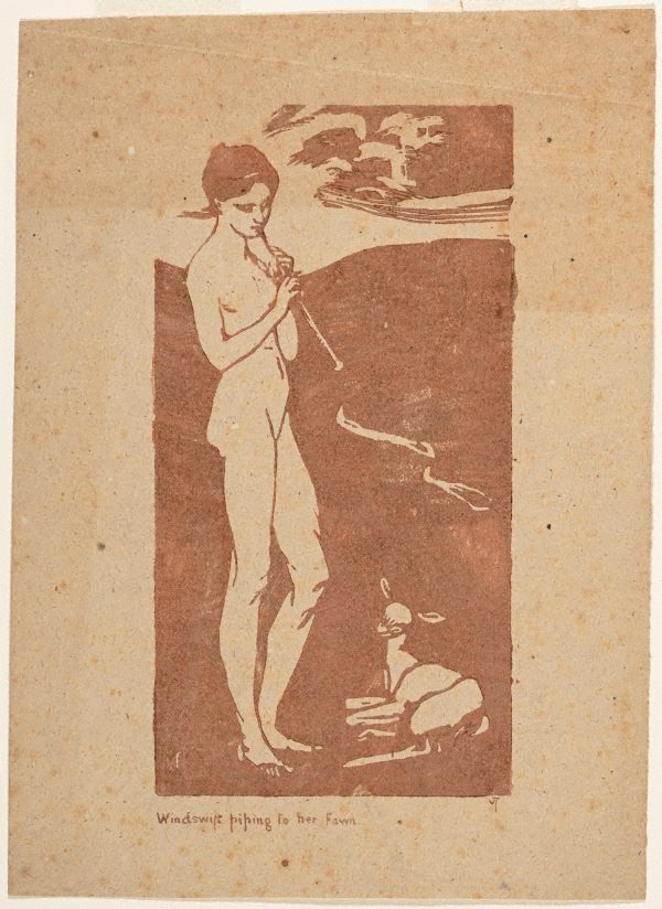 An image of Windswift piping to her faun