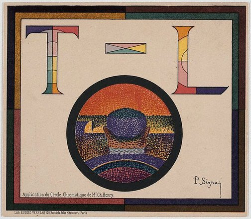 An image of Application of the Chromatic Circle of Mr.Ch.Henry by Paul Signac