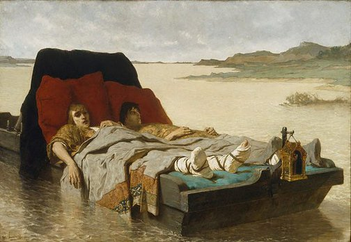 An image of The sons of Clovis II by Évariste Luminais