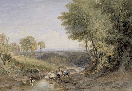 An image of Landscape by William Leighton Leitch