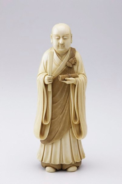 An image of Figure of a monk (okimono) by SÔSAI SÔSAI