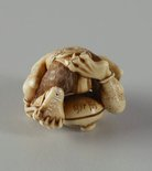 Alternate image of Netsuke in the form of a demon chanting Buddhist sutra by Unknown