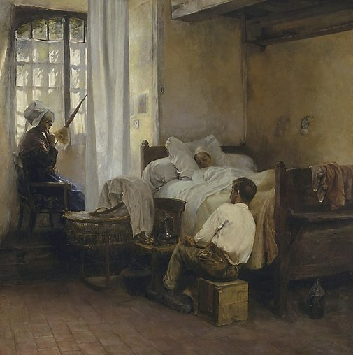An image of The first born by Gaston La Touche