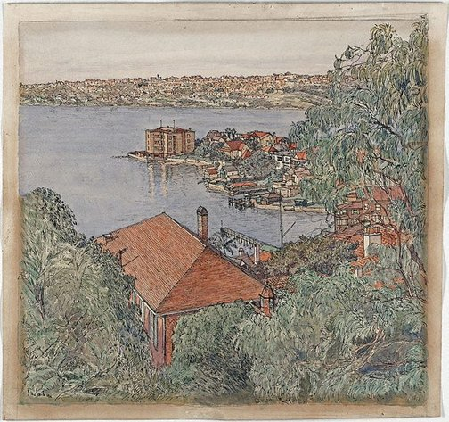 An image of Woollahra Point by Sydney Ure Smith