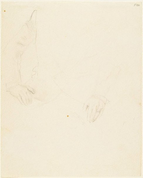 An image of Hands for portrait of Camille Gheysens by William Dobell