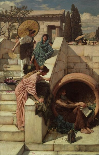 An image of Diogenes by John William Waterhouse