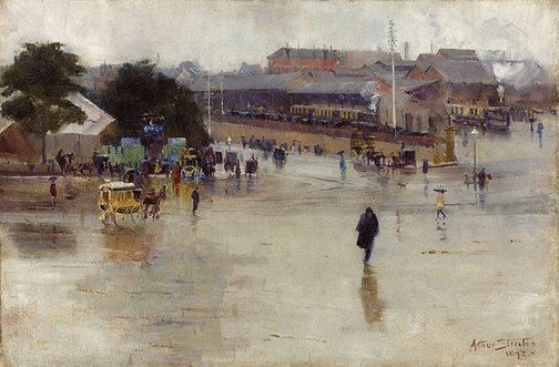 An image of The railway station, Redfern by Arthur Streeton