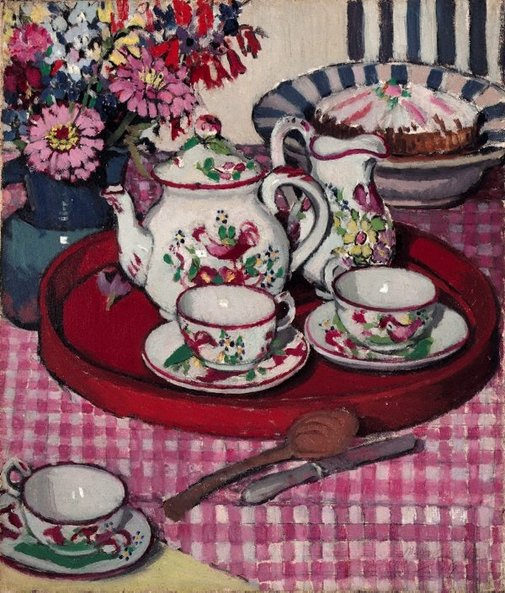 An image of Thea Proctor's tea party by Margaret Preston