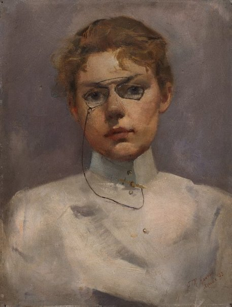 An image of Study of Alice Muskett by Julian Ashton