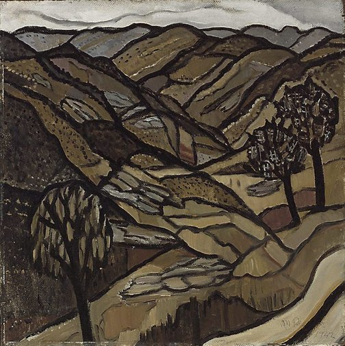 An image of Grey day in the ranges by Margaret Preston