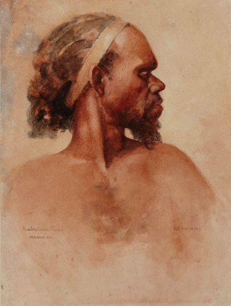An image of Aboriginal head by BE Minns