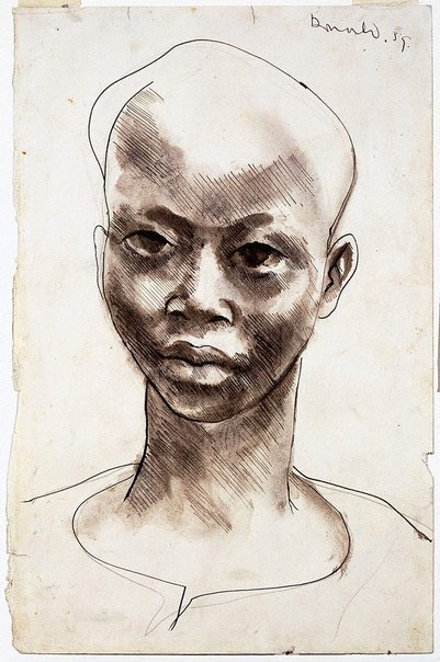 An image of African boy by Donald Friend