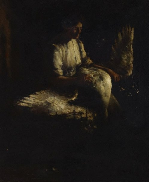 An image of Plucking geese by Frank Gascoigne Heath