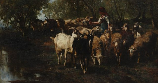 An image of Returning from pasture