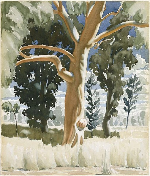 An image of The red gum by Kenneth Macqueen