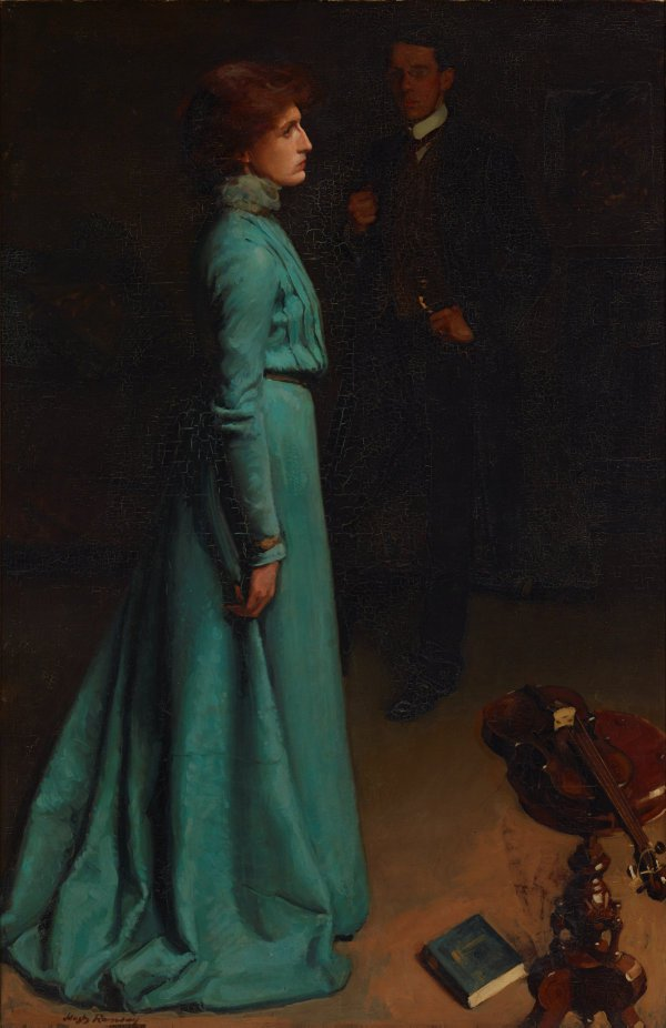 An image of The lady in blue (Mr and Mrs J S MacDonald)