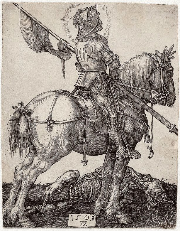 An image of St George on horseback
