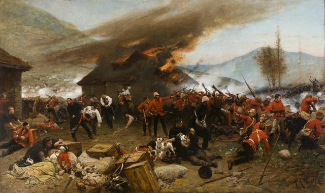 An image of The defence of Rorke's Drift 1879
