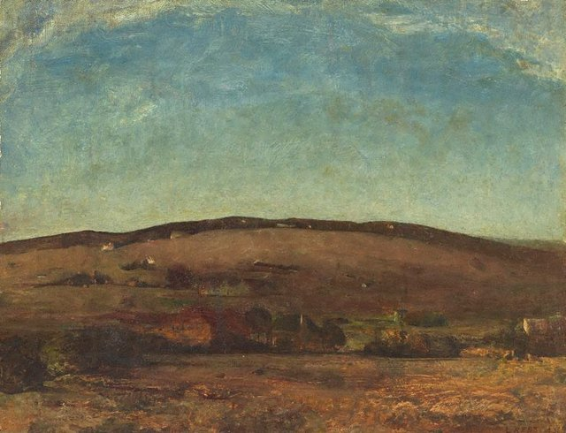 An image of Evening landscape, Orange