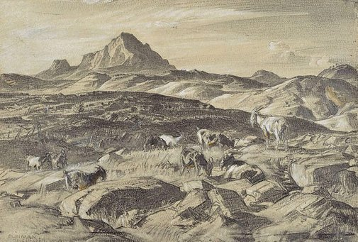 An image of Blinman (Mt. Patawerta) by Hans Heysen