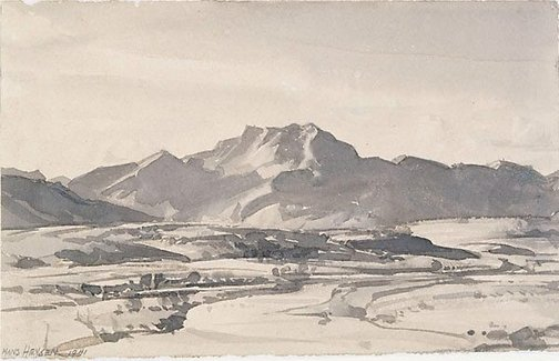 An image of A northern study by Hans Heysen