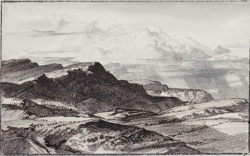 An image of Arkaba landscape, far north by Hans Heysen