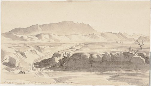 An image of Arkaba Range from Wanaka by Hans Heysen