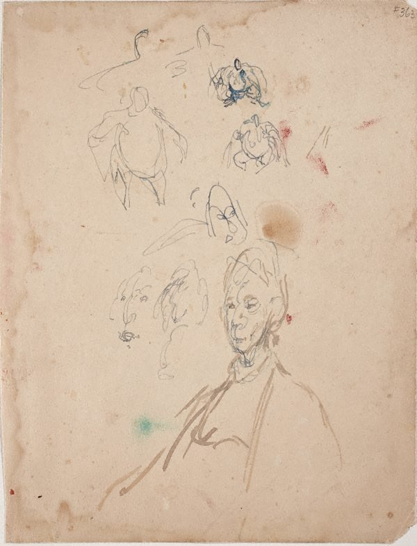 An image of Sheet of studies with Dame Mary Gilmore